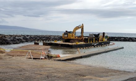 Dredging of Kihei Boat Ramp in Progress