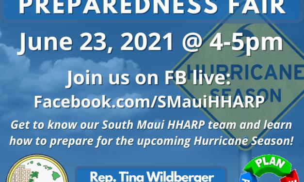 In case you missed it on June 23!!! South Maui HHARP Virtual Preparedness Fair