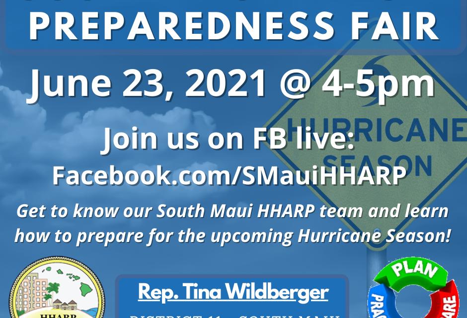 It is June 23!!! South Maui HHARP Virtual Preparedness Fair  When??
