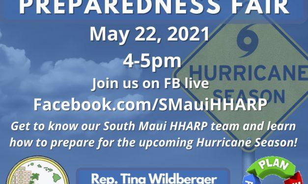 South Maui HHARP Virtual Preparedness Fair  May 22, 2021 @ 4-5 pm