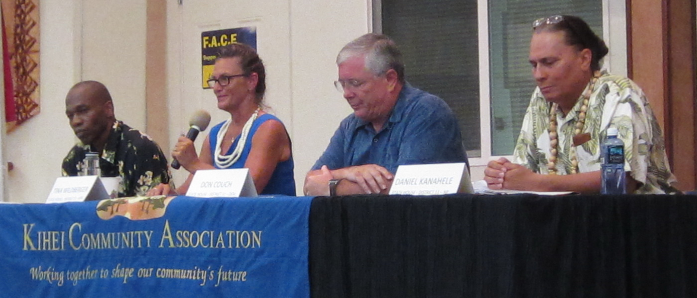 MAUI NEWS REPORTS ON KCA CANDIDATE FORUM IN TWO FRONT PAGE ARTICLES  (second)