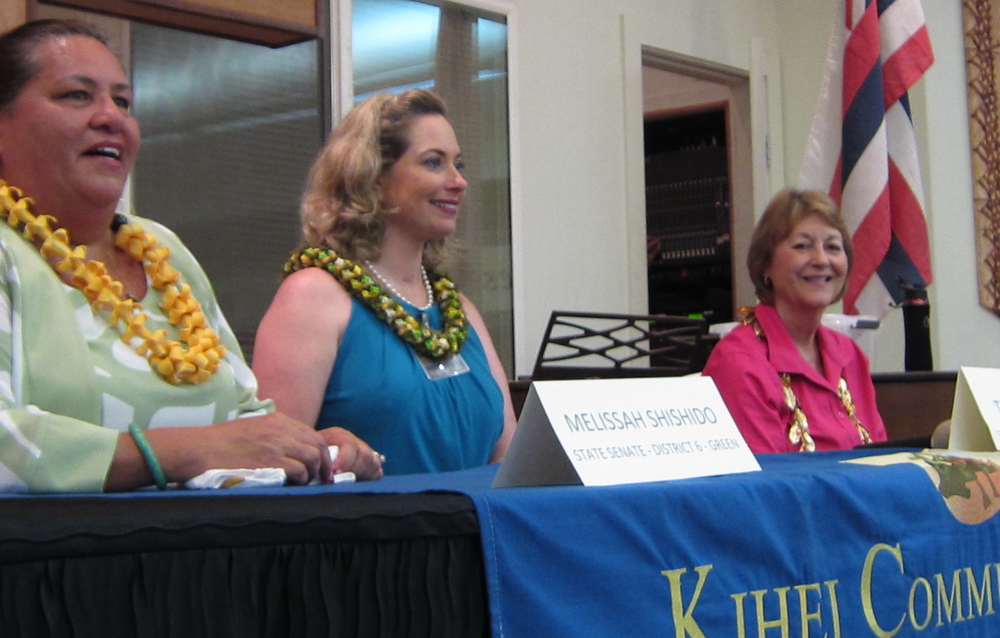 MAUI NEWS REPORTS ON KCA CANDIDATE FORUM IN TWO FRONT PAGE ARTICLES  (first)