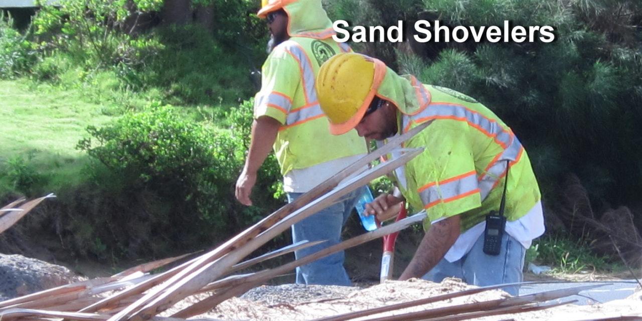 Sand removal- the good, needed kind- on SKR