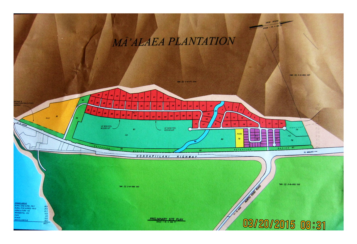 The newest reconfiguration of the Ma'alaea Plantation from Spencer