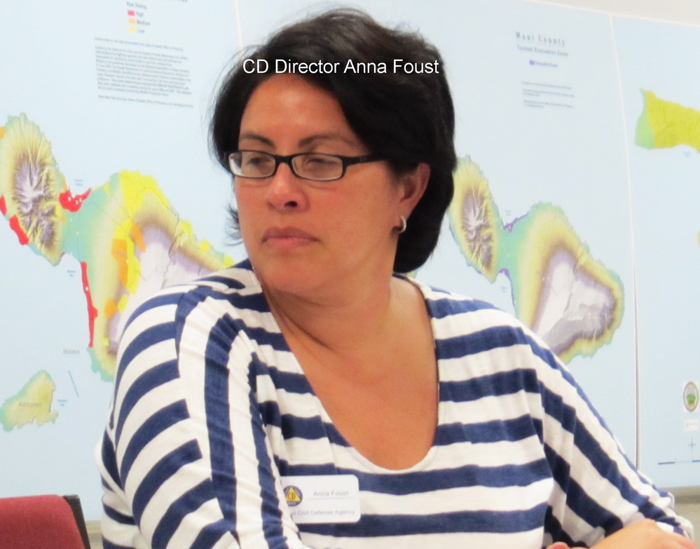Alliance of Maui Community Assoc's talks  Hazard Mitigation
