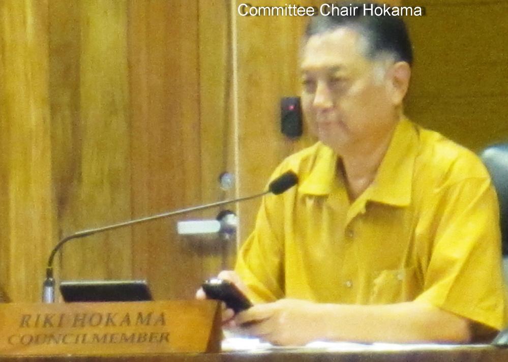 KCA testifies again at Council's B & F Committee