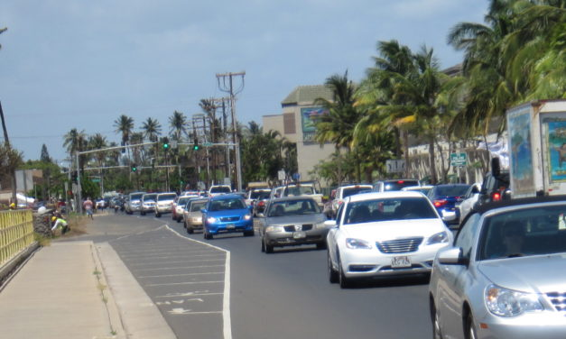 Who designed these traffic signals in central Kihei?