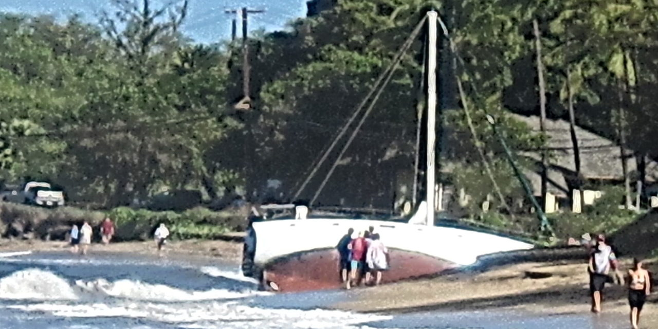 One effect of this weekend's storm on North Kihei beach