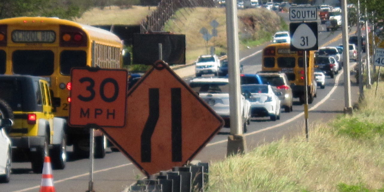 Traffic Issues in North Kihei Continue to Challenge Drivers this Month