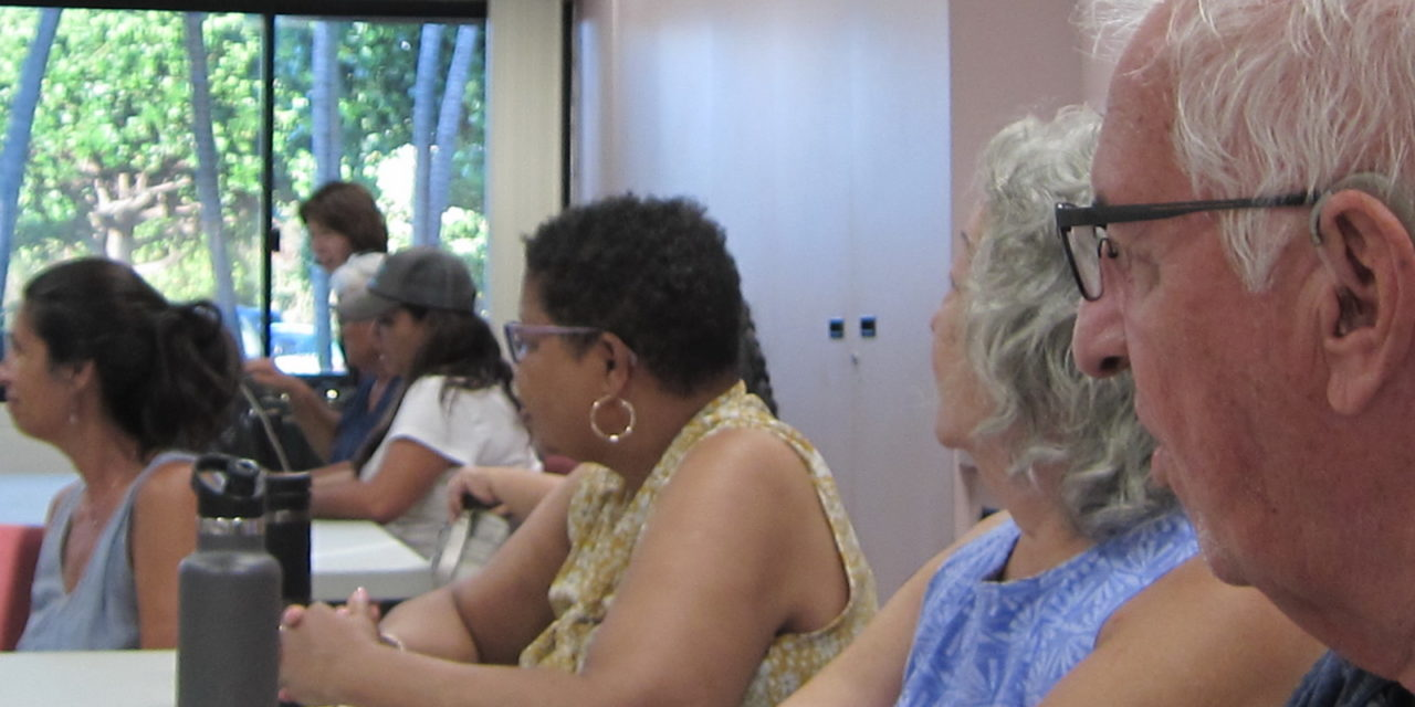 Alliance of Maui Community Associations met with County Reps on Monday