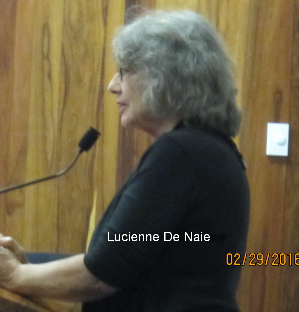 Friday 9 AM Full Council–Lucienne De Naie moves forward at Water Board despite our rep Don Couch's sole NO vote at PIA this morning