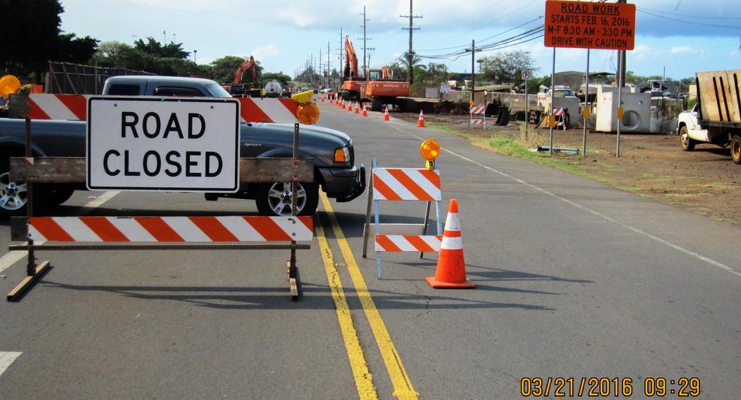 Road Closed! WAY more than a bike path on Liloa