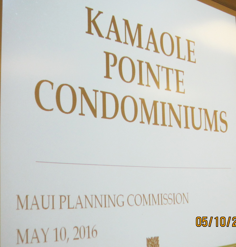 Planning Commission examines three South Maui Issues and much more today