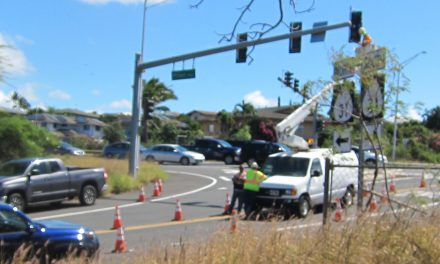 Troublesome signal lights at Ohukai intersection at highway
