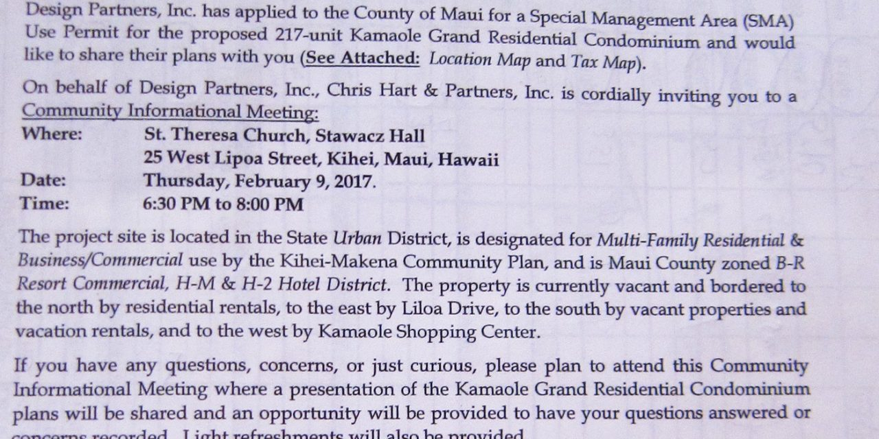 Whatever happened to the Kamaole Grand Project in South Kihei?