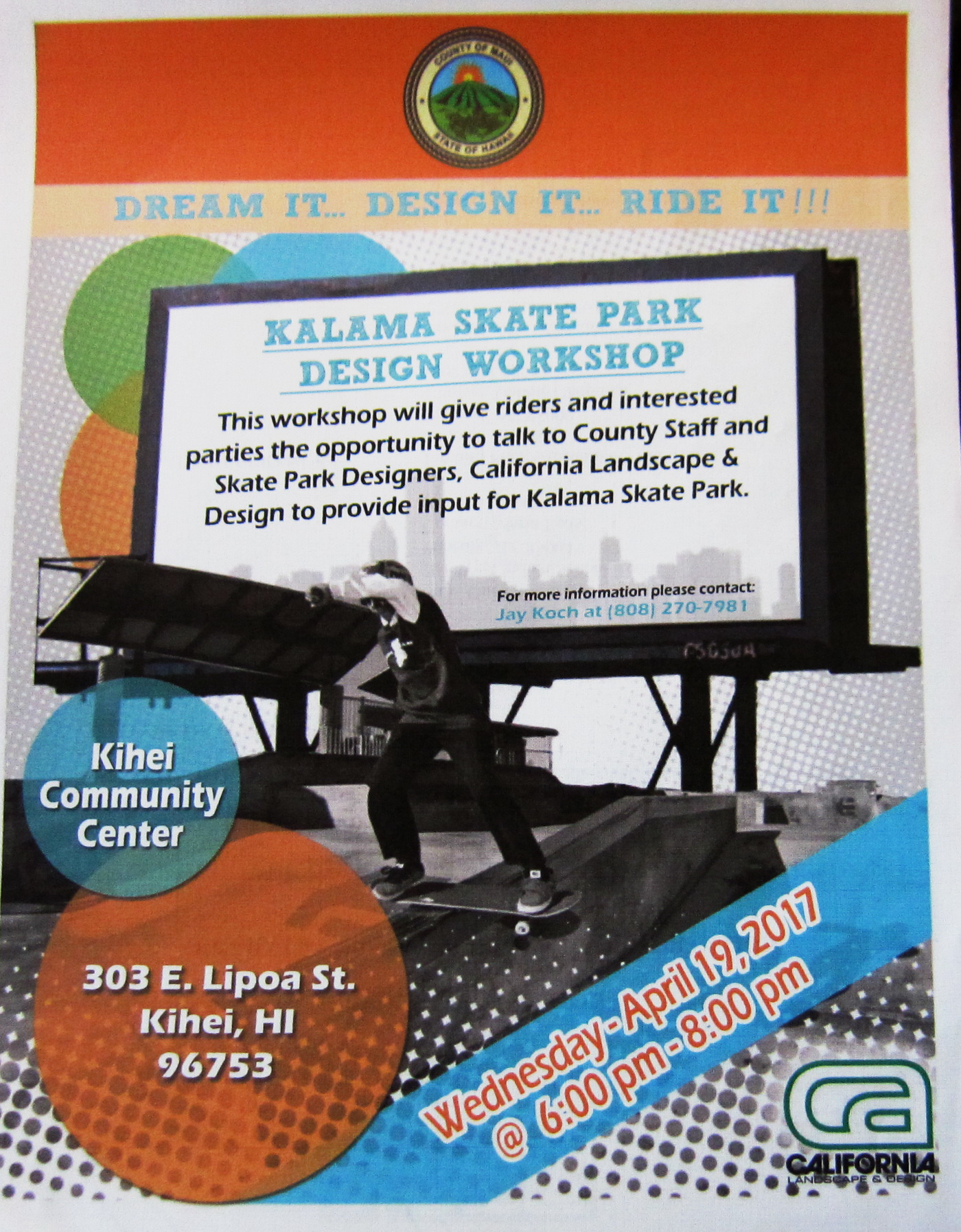 Public Invited to Kalama Skate Park Design Workshop this Wednesday at KCC