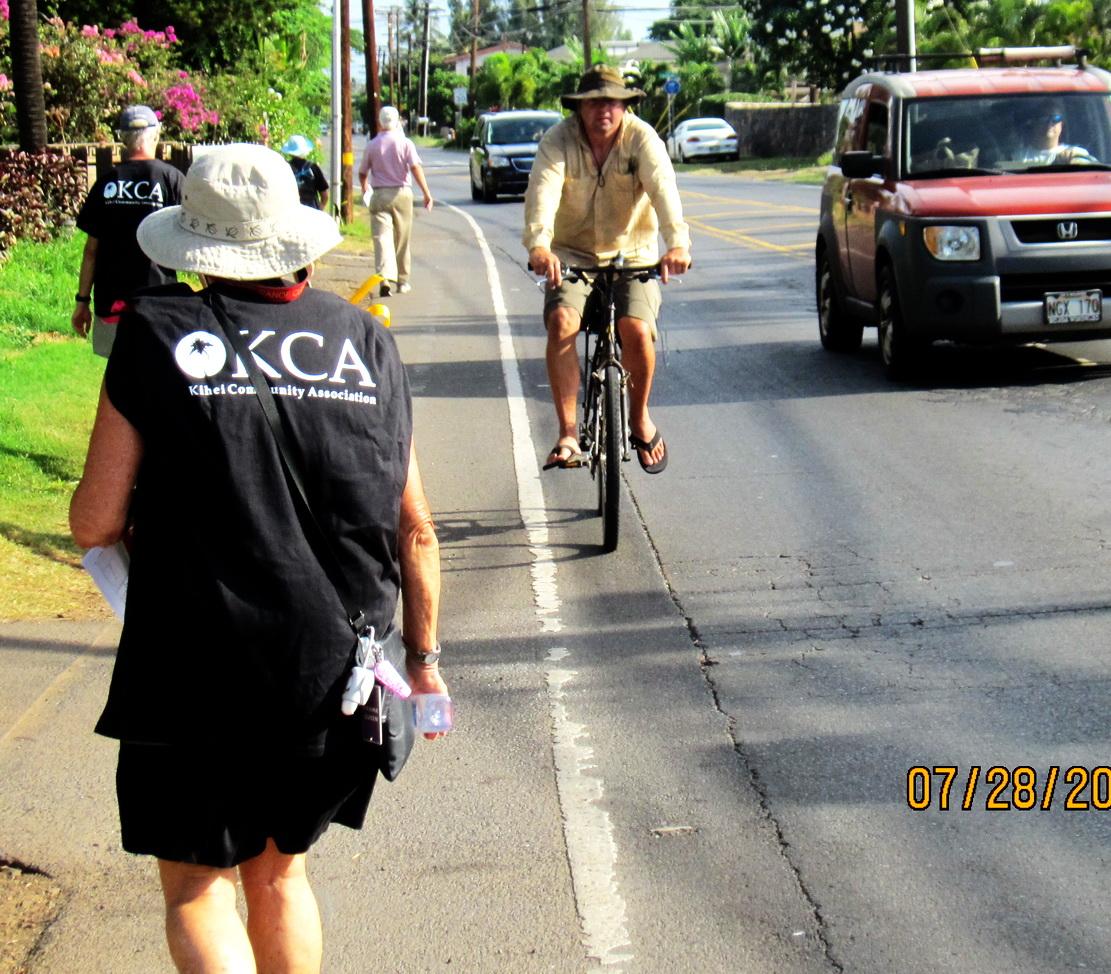 Walking and Talking along South Kihei Road Friday Morning