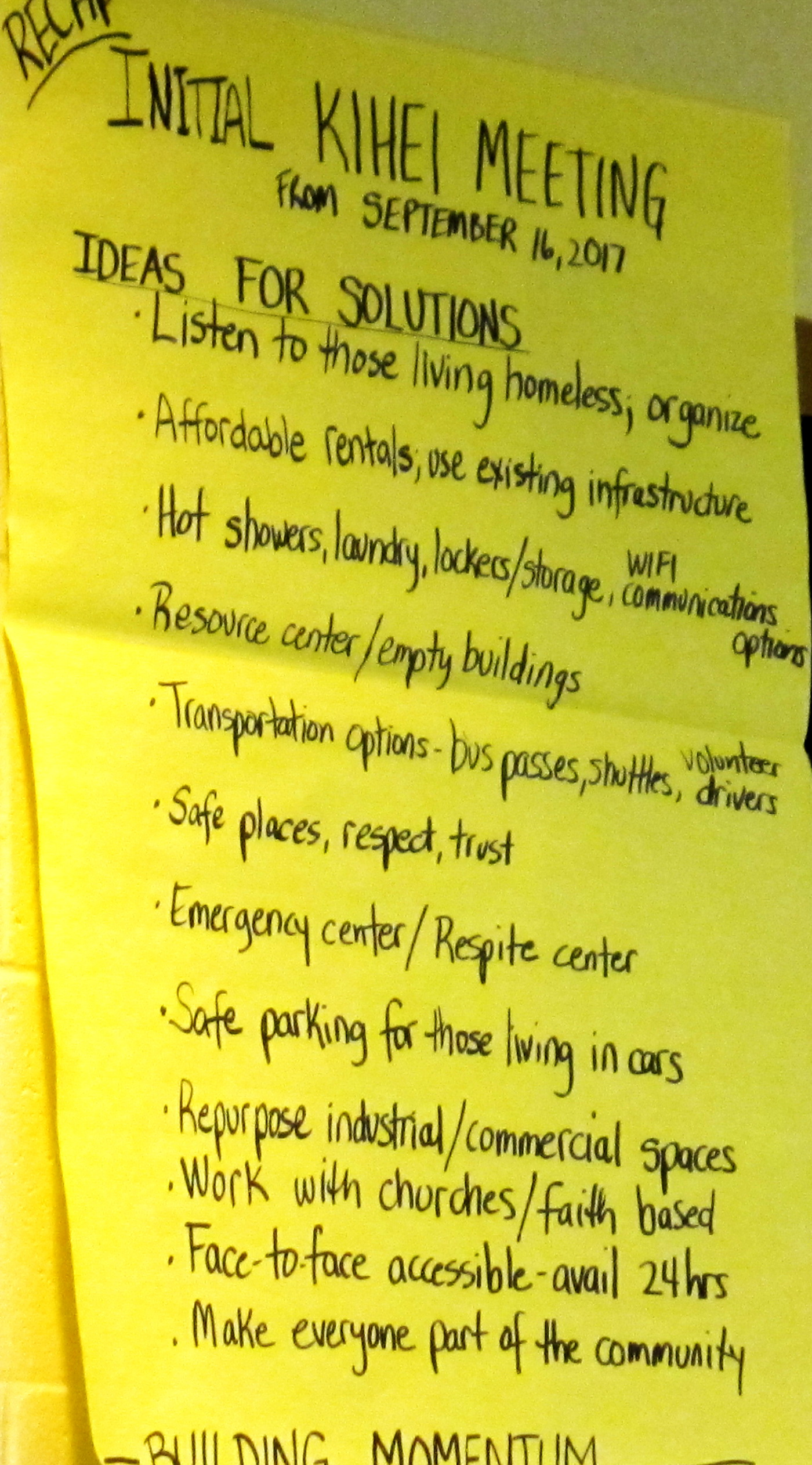 Homelessness meeting at Kihei Community Center draws over 70 people