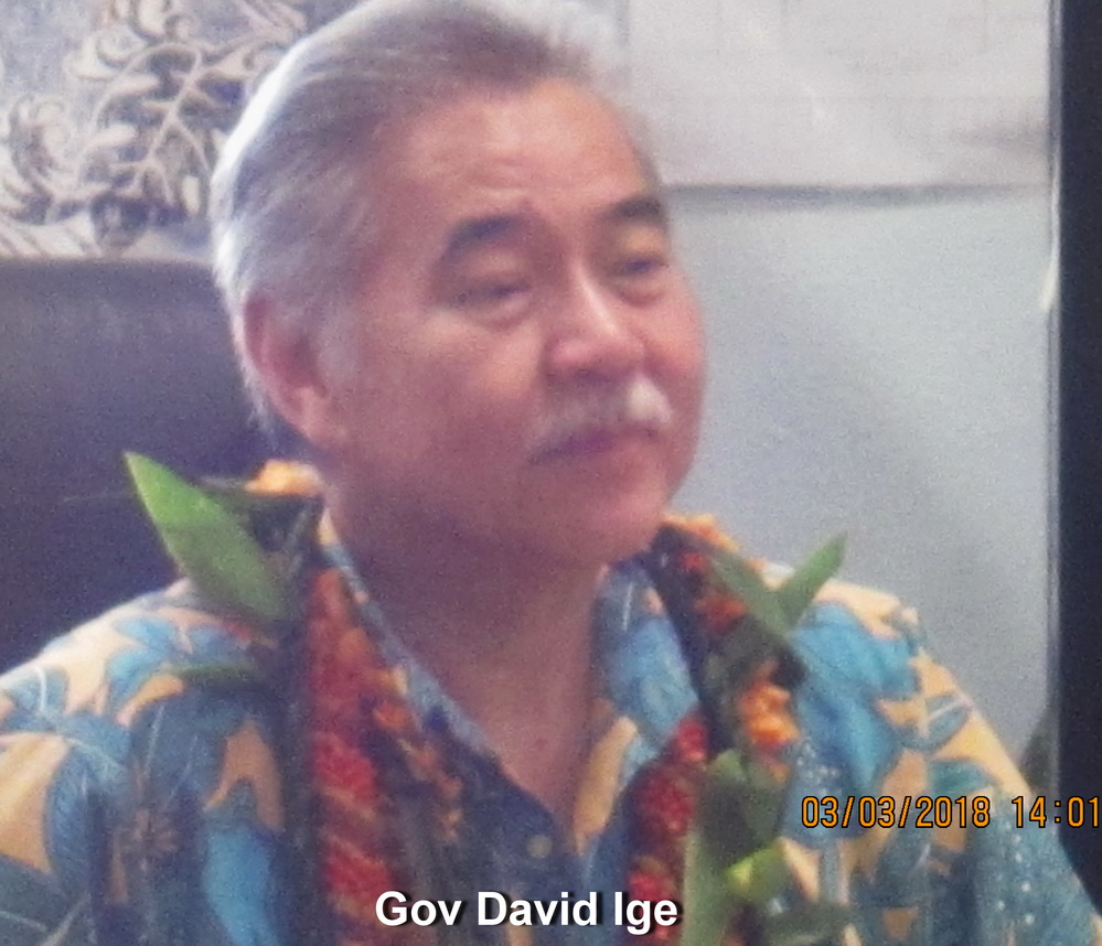 Governor Ige's So. Maui Talk Story dominated by health, safety and environmental concerns