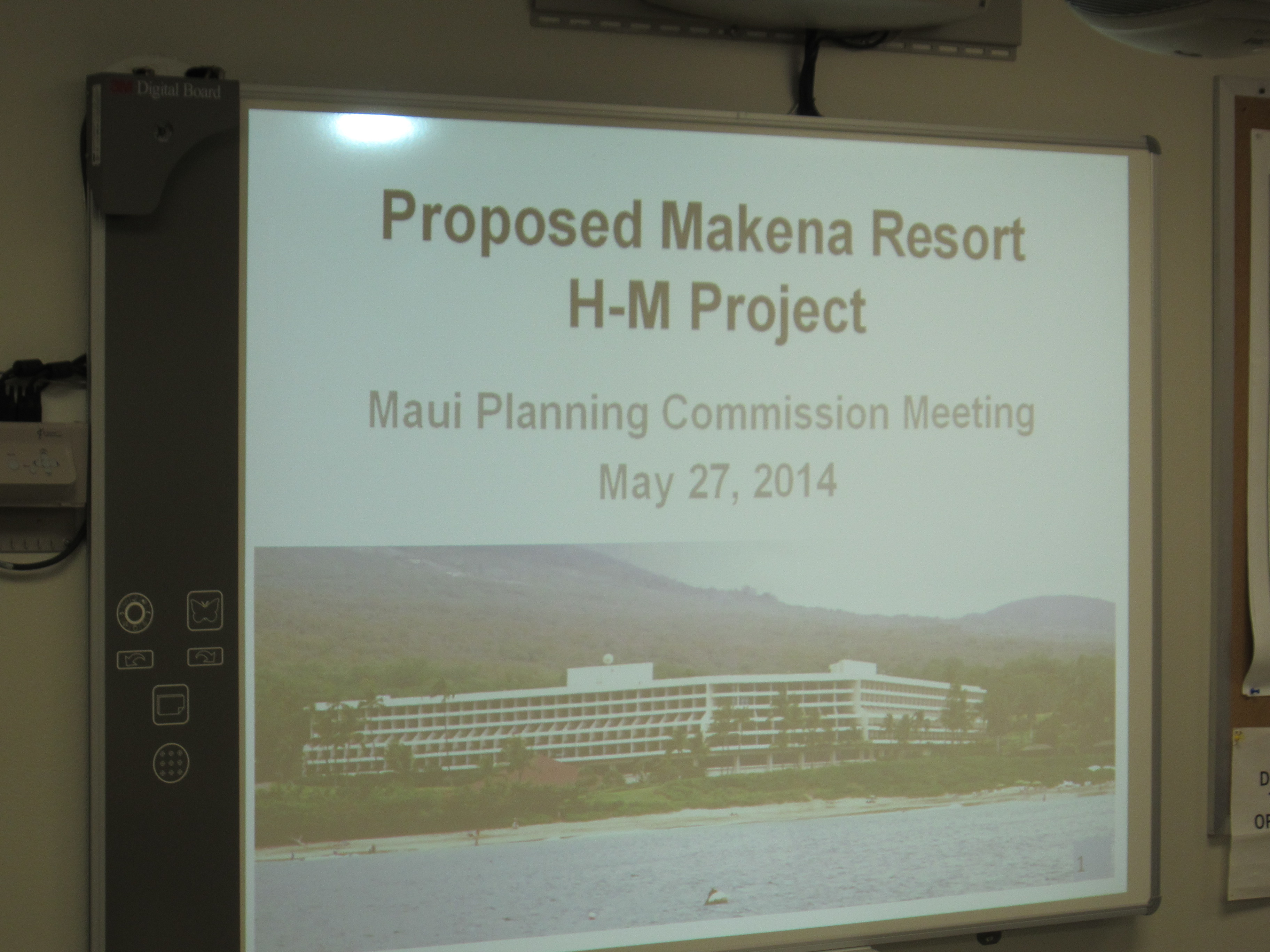 Maui County Planning Commission Meeting on Makena Resort.