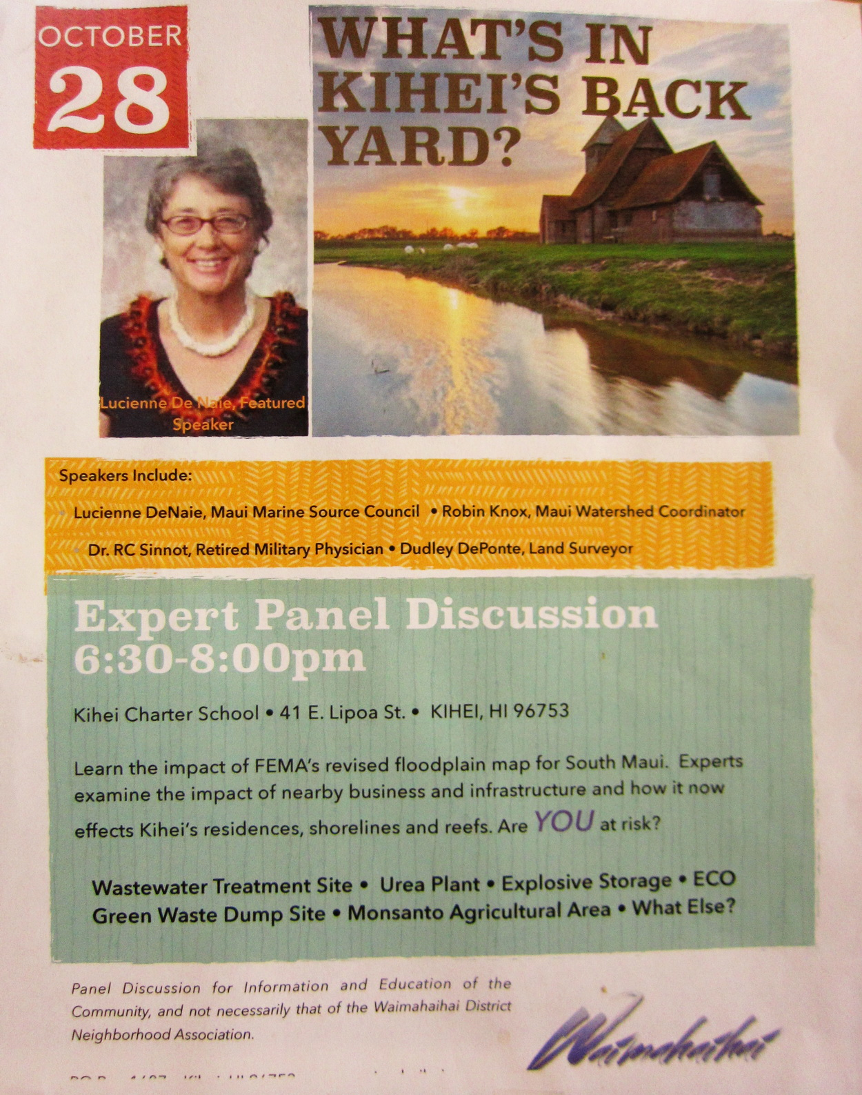 Meeting this Tuesday on Impact of FEMA on S. Maui