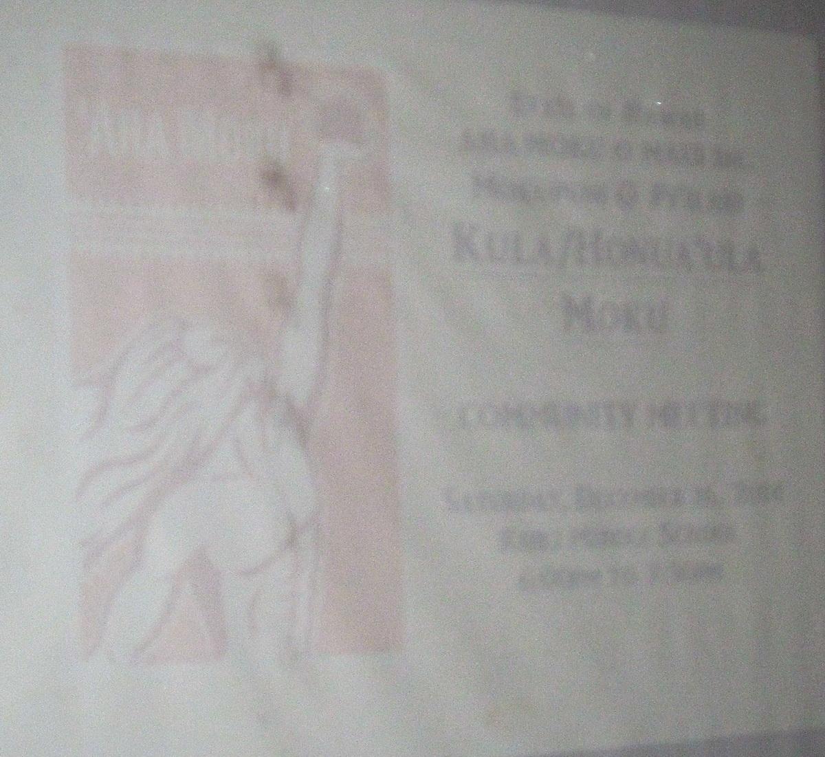 First Kula Aha Moku Meeting in Kihei on Tuesday