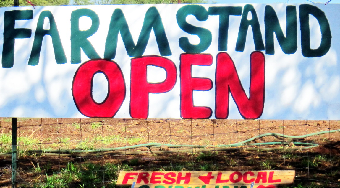 NEW Kihei local farm stand opens mauka Pi'ilani Hwy.