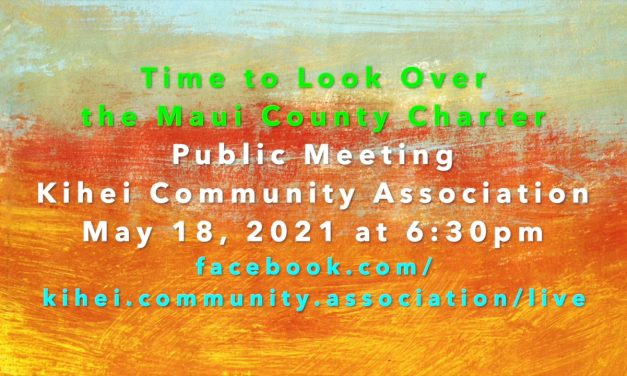 What is the Maui County Charter Commission Up to?