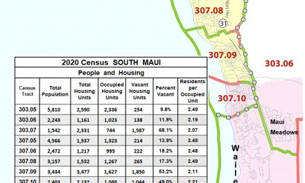 South Maui in the 2020 census