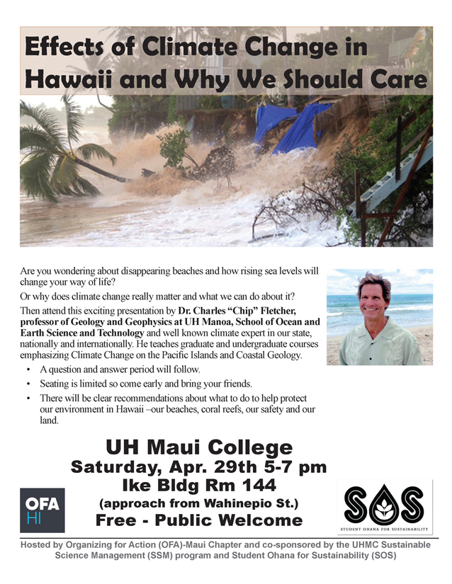 The Effects of Climate Change in Hawaii: Dr Chip Fletcher