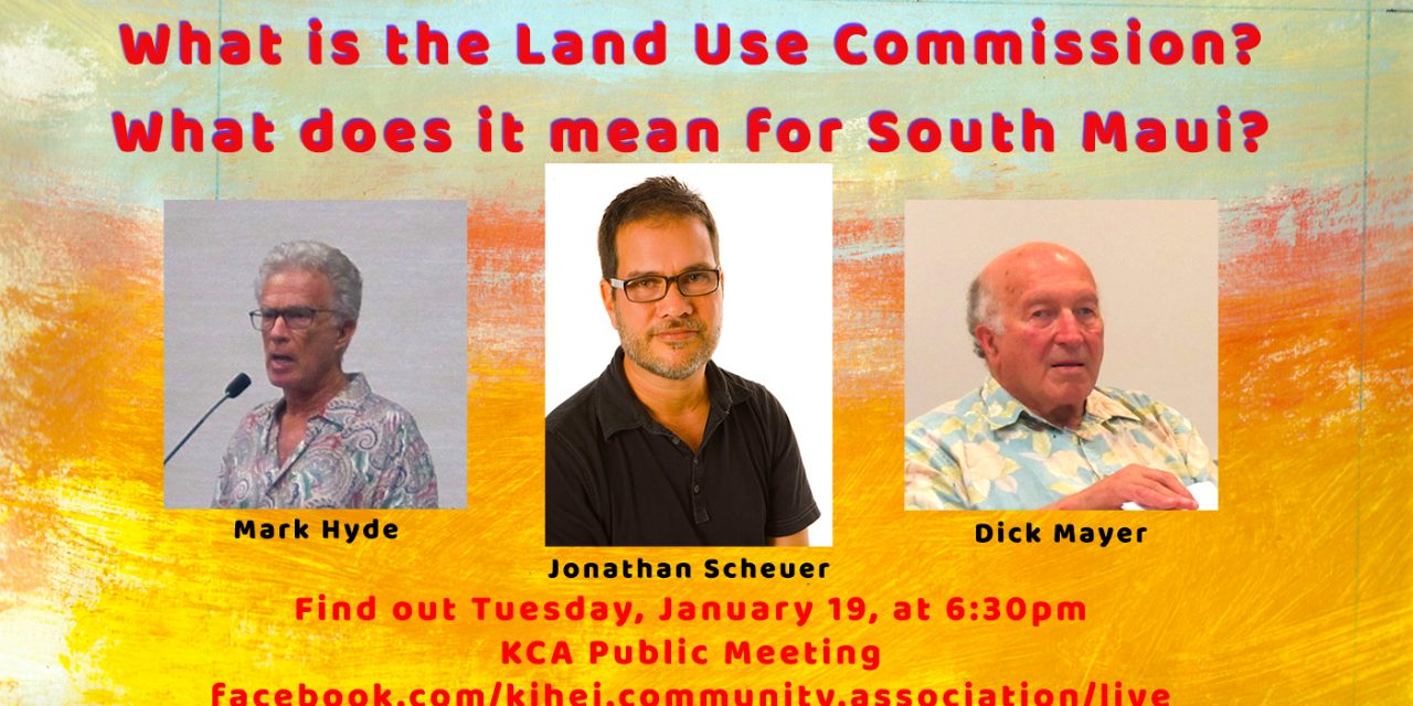 The Land Use Commission and South Maui