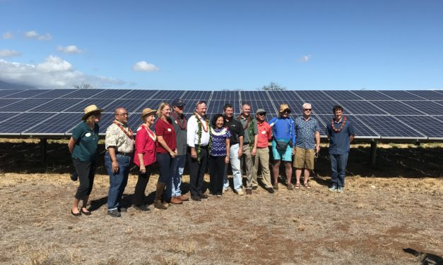 KENYON ENERGY Blessing of New Solar Farm Above R & T Park in Central Kihei